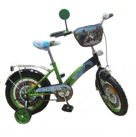 """Велосипед детский Baby Tilly T-21423 """"Мотогонщик"""" 14"""" light green/black"""