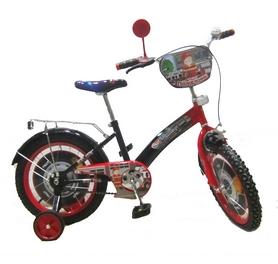 """Велосипед детский Baby Tilly T-21627 """"Пожарник"""" 16"""" black/red"""