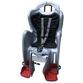 Велокресло детское Bellelli Mr Fox Relax B-fix серебристо-чёрное