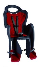 Велокресло детское Bellelli Mr Fox Relax B-fix чёрно-красное