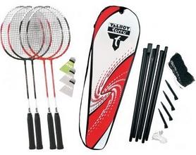 Набор для бадминтона (4 ракетки, 3 волана, сетка) Talbot Torro Badminton Set 4 Attacker Plus