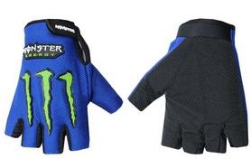 Велоперчатки текстильные Monster BC-5090-BL синие