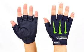 Велоперчатки текстильные Monster BC-5090-BK черные