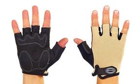 Велоперчатки текстильные Scoyco ВG02-BG бежевые