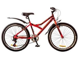 """Велосипед подростковый горный Discovery Flint 14G 24"""" 2017 красный/черный, рама - 14"""""""