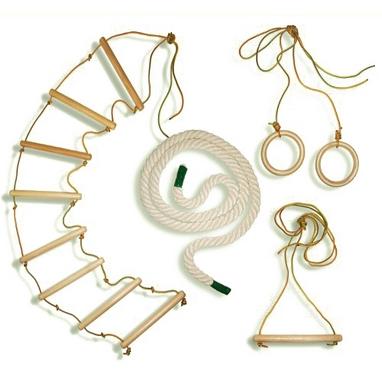 Веревочный комплект для шведской стенки или гладиаторской сетки Ирель