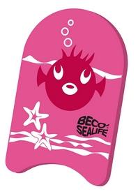 Доска для плавания детская Beco Sealife Kickboard 9653 4 розовая