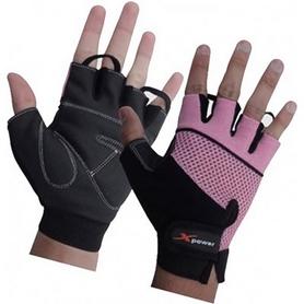 Перчатки для фитнеса X-power 9144 черно-розовые