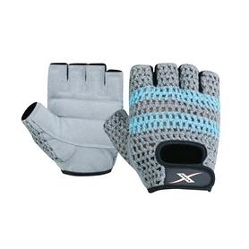 Перчатки для фитнеса X-power 9148 серо-голубые