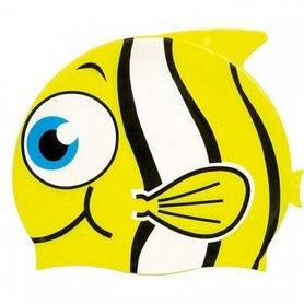 """Шапочка для плавания детская Beco """"Рыбка"""" 7394 2 желтая"""
