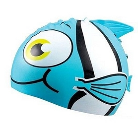 """Шапочка для плавания детская Beco """"Рыбка"""" 7394 66 голубая"""