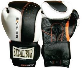 Перчатки боксерские Excalibur 559 черно-белые