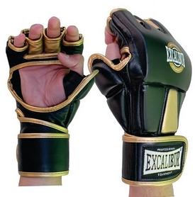 Перчатки для MMA Excalibur 665 черно-золотые