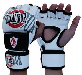 Перчатки для MMA Excalibur 670 бело-черные