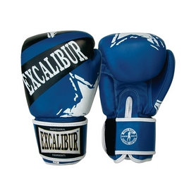 Перчатки боксерские Excalibur 550-03 синие