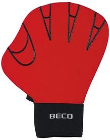 Перчатки для аквафитнеса Beco 9635 99 красные, размер - 2М