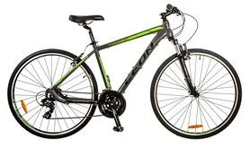 """Велосипед горный Leon HD-85 AM 14G Vbr 28"""" 2017 серо-зеленый, рама - 19"""""""