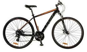 "Велосипед горный Leon HD-80 AM Hydraulic lock out 14G DD 28"" 2017 черно-оранжевый, рама - 19"""