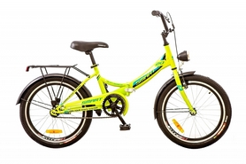 """Велосипед складной с корзиной Formula Smart 14G 20"""" 2017 желтый, рама - 13"""""""
