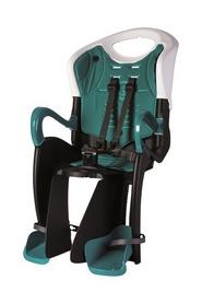 Кресло велосипедное детское Bellelli Tiger Сlamp черно-белый бирюзовая подкладка