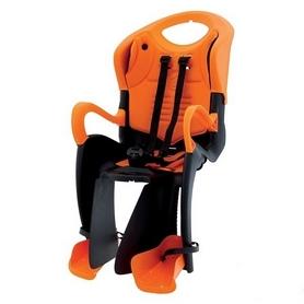 Кресло велосипедное детское Bellelli Tiger Сlamp черно-оранжевое с оранжевой подкладкой