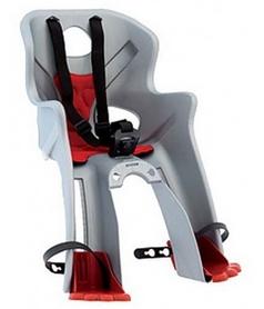 Кресло велосипедное детское Bellelli Rabbit B-fix серебристо-красное
