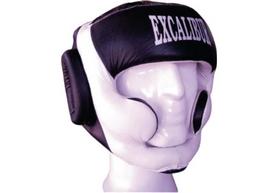Шлем боксерский Excalibur 714/01 черно-белый