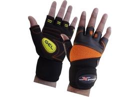 Перчатки для фитнеса X-power 9006 черно-желтые