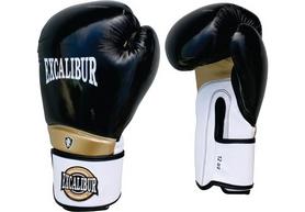 Перчатки боксерские Excalibur 8020 Black/White/Gold