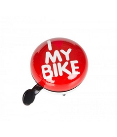 Звонок велосипедный (динг-донг) Green Cycle GCB-1058S I Love My Bike красный