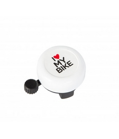 "Звонок велосипедный Green Cycle GCB-1051A-BK  ""I Love My Bike"" белый"