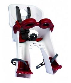Кресло велосипедное детское Bellelli Freccia Standart B-fix бело-красное