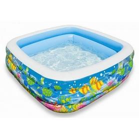 Бассейн детский надувной Аквариум 57471 Intex (159x159x50 см)