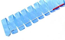 Лента гимнастическая ZLT С-3248 6,3 м голубая