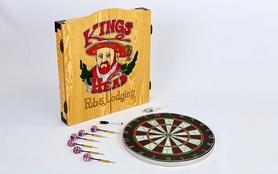 Фото 2 к товару Дартс классический с кабинетом для мишени Kings Head 18