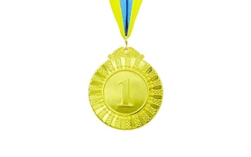 Медаль спортивная ZLT Flash C-4328-1 золото