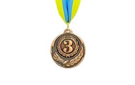 Медаль спортивная ZLT Zing C-4334-3 бронза