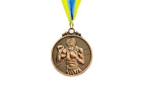 Медаль спортивная ZLT Boxing C-4337-3 бронза
