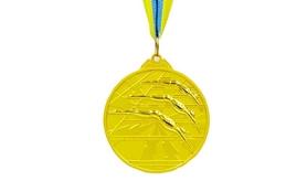 Медаль спортивная ZLT Плавание C-4848-1 золото