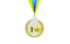 Медаль спортивная ZLT Баскетбол C-4849-2 серебро