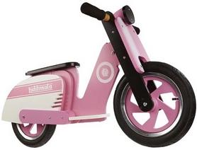 """Беговел детский Kiddimoto Superbike 12"""" деревянный, розовый"""
