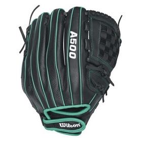 Перчатка-ловушка бейсбольная Wilson A500 WTA05RF1612 зеленая
