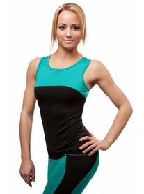 Майка для фитнеса женская Active Age 5.08 p.bm черная с мятным
