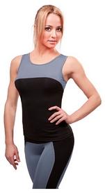 Майка для фитнеса женская Active Age 5.08 p.bg черная с серым