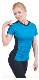 Футболка для фитнеса женская Active Age 5.34 p.blb голубая с черным