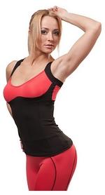 Майка для фитнеса женская Active Age 5.26 p.bc черная с коралловым