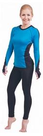 Футболка женская с длинным рукавом Active Age 5.30 p.blb голубая с черным