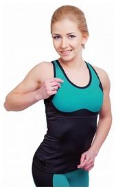 Майка для фитнеса женская Active Age 5.31 p.bm (сuр) черная с мятным