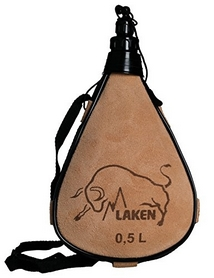 Фляга Laken Leather canteen 500 мл straight form