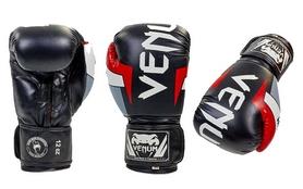 Перчатки боксерские Venum BO-5338-BKW черно-белые
